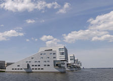 Living at the water. Living at the gooimeer in huizen, the netherlands Stock Photography