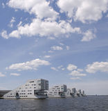 Living at the water. Living at the gooimeer in huizen, the netherlands Stock Image