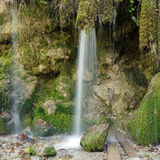 Abkhazia. Waterfall in the mountain gorge Royalty Free Stock Photos