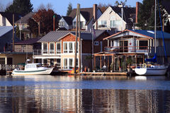 Living on the water, Portland Oregon. Royalty Free Stock Photos