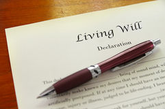 Living Will Stock Photo