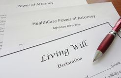 Power of Attorney and Living Will Royalty Free Stock Image