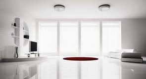 livingen för interioren 3d framför lokal Arkivfoto