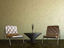 Livingroom with chairs Royalty Free Stock Images