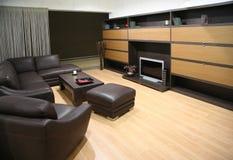 livingroom för 2 interior Arkivfoto