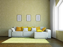 Livingroom with furniture Stock Photos
