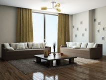 Livingroom with furniture Stock Photography