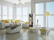 Livingroom with furniture Royalty Free Stock Photo