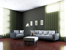 Livingroom with furniture and a lamp Stock Images