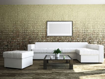 Livingroom with furniture Stock Image