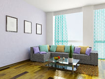 Livingroom with furniture Stock Images