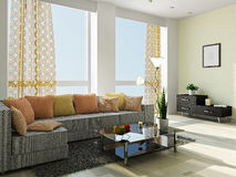 Livingroom with furniture Royalty Free Stock Images