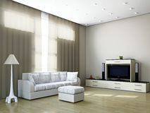 Livingroom with furniture and a TV Royalty Free Stock Image