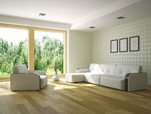 Livingroom with furniture Royalty Free Stock Image