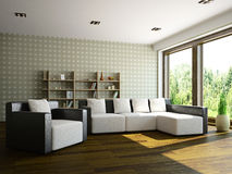 Livingroom with furniture Stock Photo