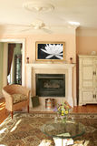 Livingroom with marble fireplace Stock Image