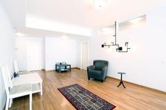 Livingroom med ny matta Arkivfoton