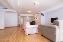 Livingroom med nytt möblemang Royaltyfria Bilder