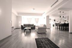 Livingroom med nytt möblemang Arkivfoto