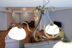 Livingroom med nytt möblemang Royaltyfri Fotografi