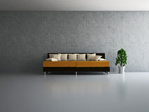 Livingroom med sofaen Royaltyfri Foto