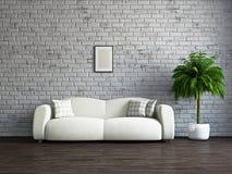 Livingroom med soffan Royaltyfri Bild
