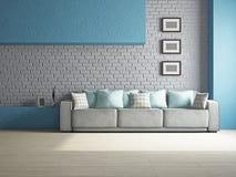 Livingroom med soffan Royaltyfri Foto