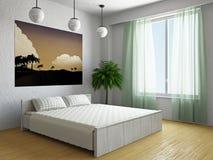 Livingroom with palm Stock Image