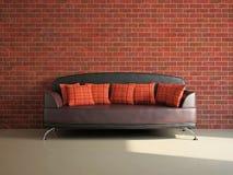 Livingroom with sofa Stock Photos