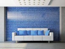 Livingroom with sofa Stock Photography