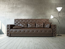 Livingroom with sofa Stock Image