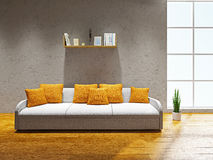 Livingroom  with sofa Stock Images