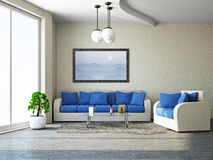 Livingroom with sofa Stock Photos