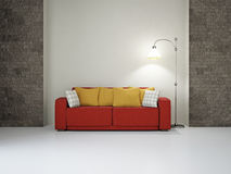 Livingroom with sofa Stock Photo