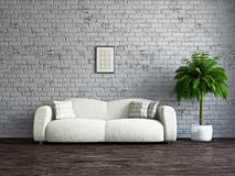 Livingroom with sofa Royalty Free Stock Image