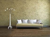 Livingroom with sofa Royalty Free Stock Image