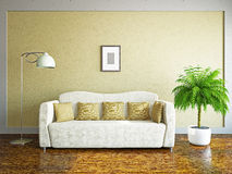 Livingroom with sofa Royalty Free Stock Photography