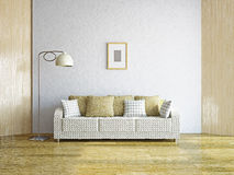 Livingroom with sofa Royalty Free Stock Photos