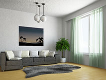 Livingroom with sofa Royalty Free Stock Images