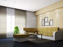 Livingroom with sofa and a table Royalty Free Stock Photography