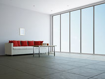 Livingroom with sofa and a table Royalty Free Stock Photos