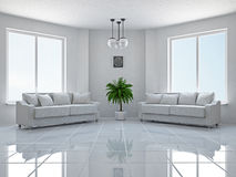 Livingroom with sofas Stock Images