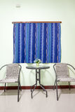 Livingroom whit table en chairs Stock Photo