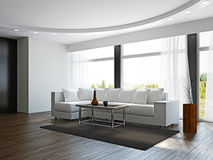 Livingroom with white sofa Royalty Free Stock Image