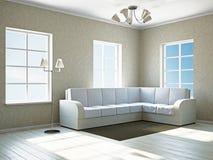 Livingroom with white sofa Stock Photos