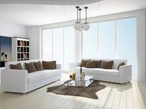 Livingroom med sofas vektor illustrationer