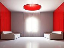 Livingroomen med två sofas vektor illustrationer