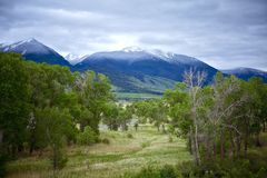 Livingston Montana. Landscape. Early Summer - Snowy Peaks. Montana Photo Collection Royalty Free Stock Images