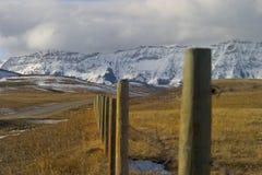 Livingston Range. Sonw on the Livingston Range in Alberta Stock Image