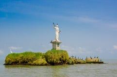 Livingston statue Guatemala stock image
